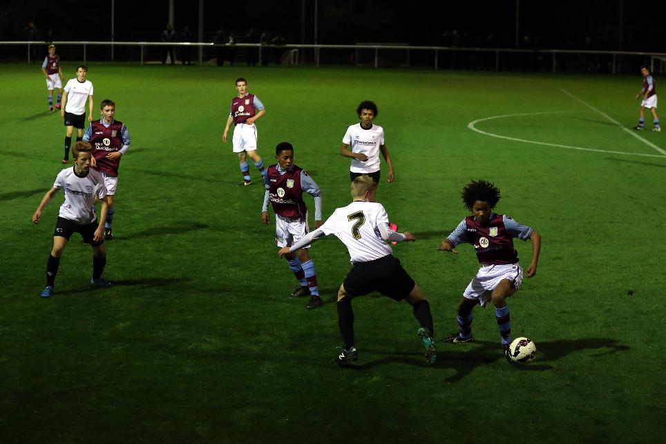 Premier League U15 Floodlit Cup match between Derby and Aston Villa