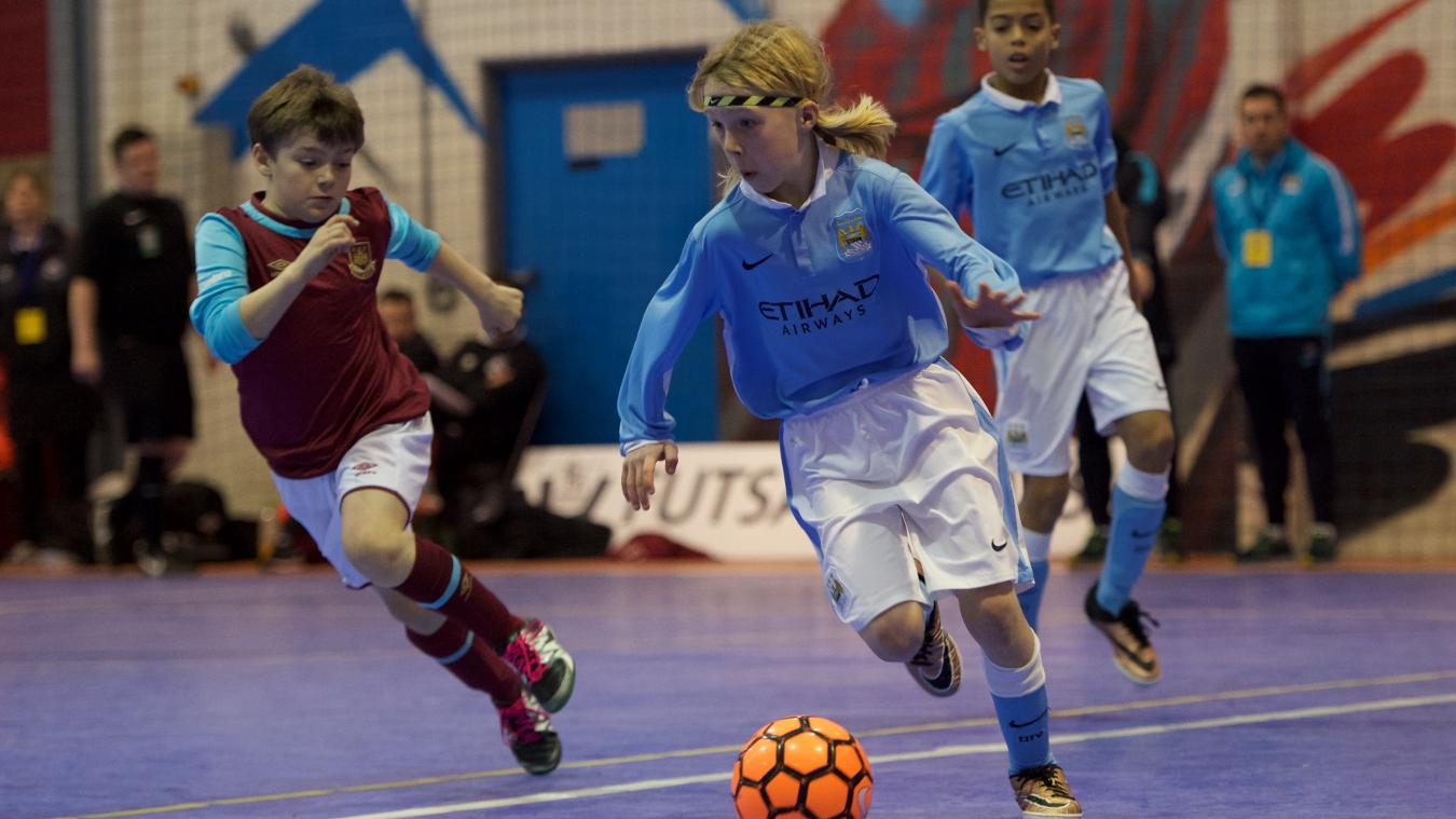 Manchester City in action on the way to becoming U10 champions