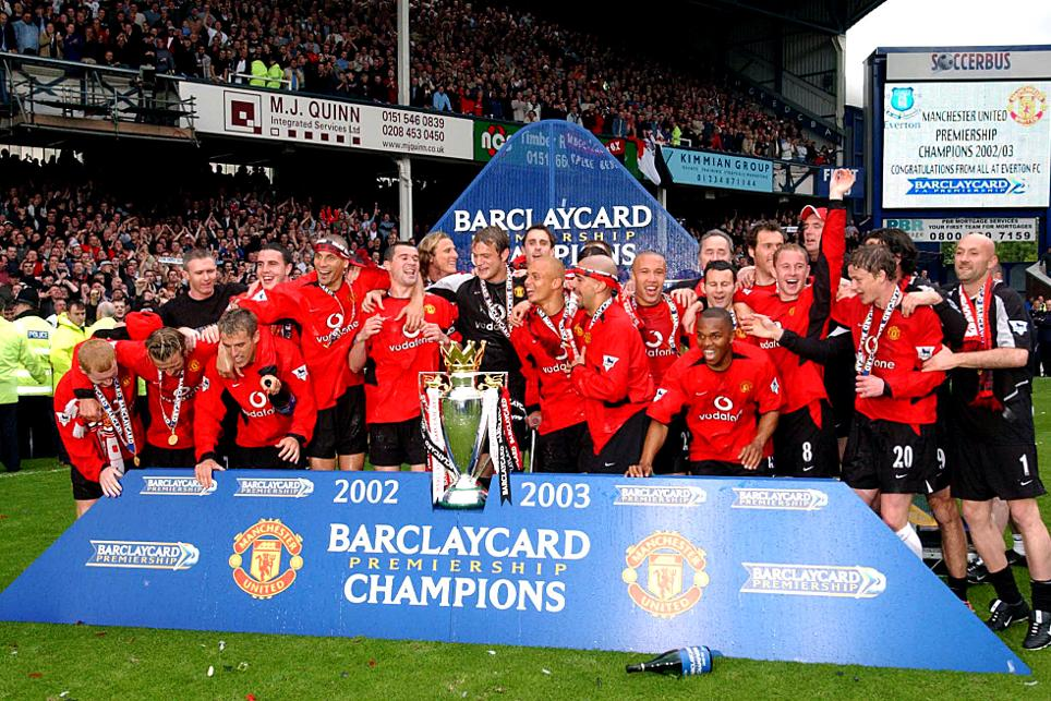 2002/03 Premier League champions: Manchester United