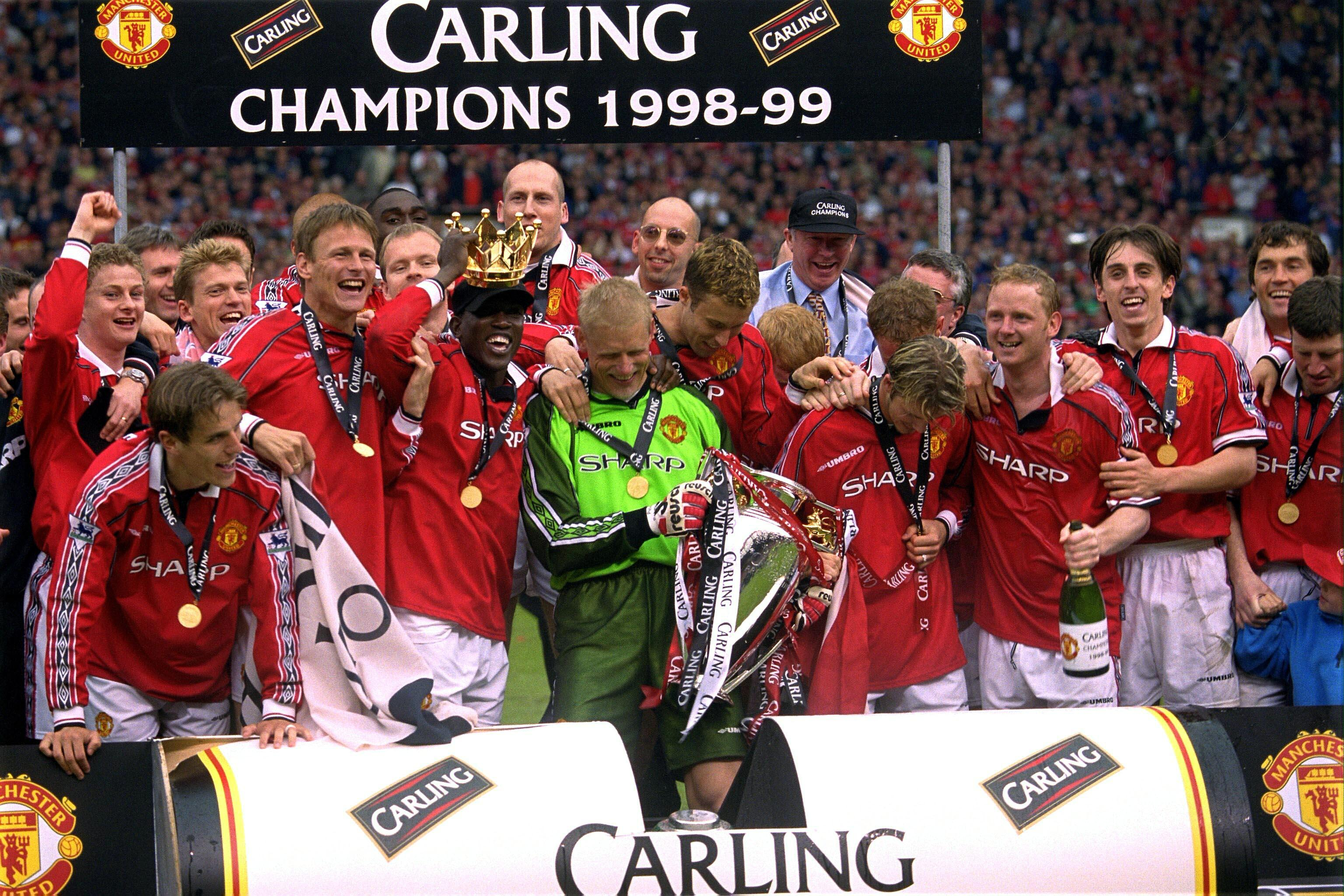 1998 99 season review man utd seal the treble for Epl table 98 99