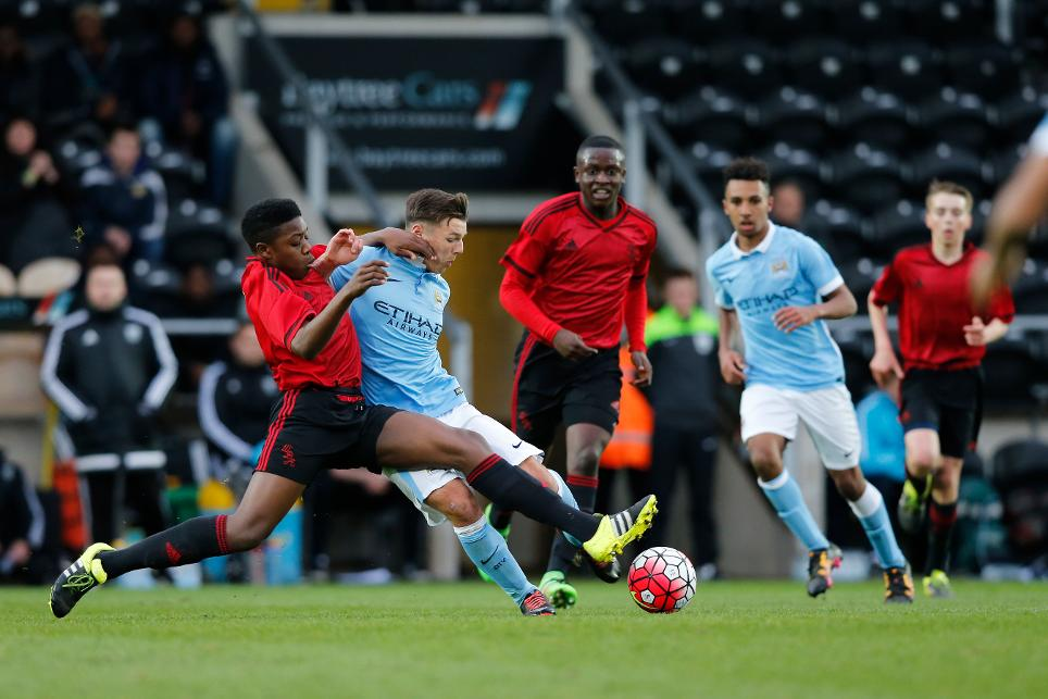 The U15 Super Floodlit Cup final between Man City and West Brom in 2016