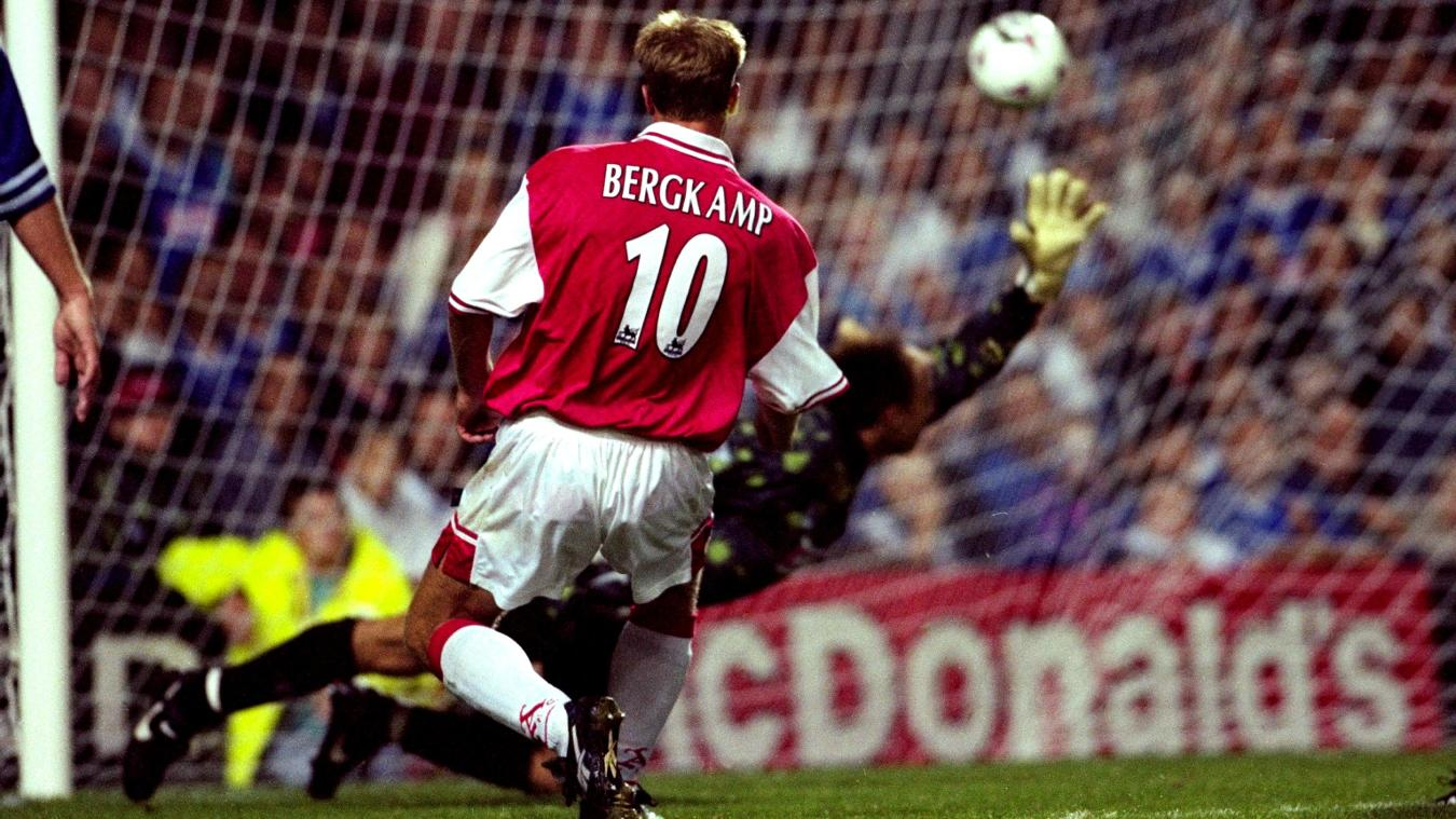 Dennis Bergkamp scores a stunning hat-trick against Leicester