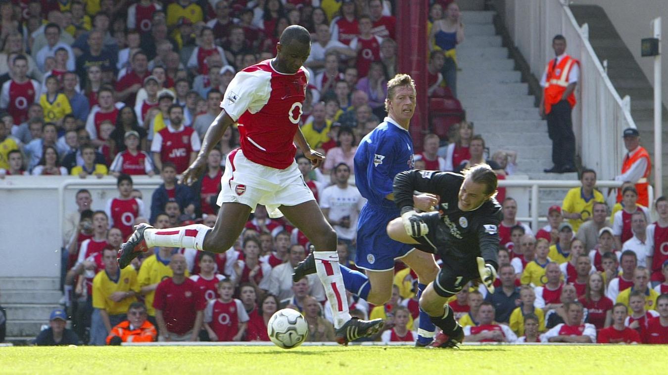 Patrick Vieira scored the winner agianst Leicester, which sealed Arsenal's unbeaten season