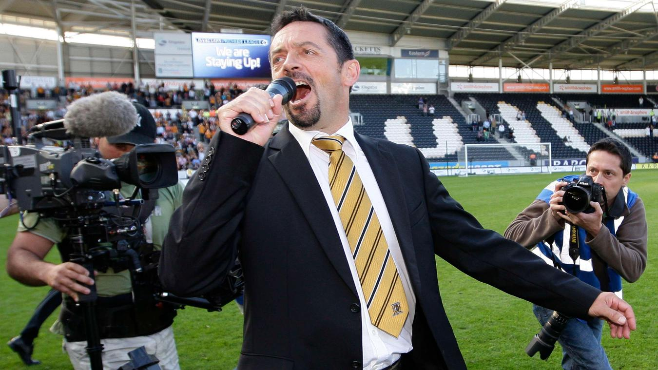 Phil Brown serenaded the KC Stadium crowd as Hull stayed up on the final day