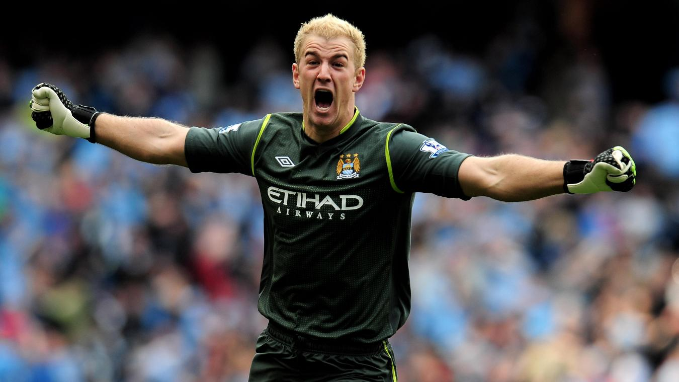 Joe Hart after Sergio Aguero's title-clinching goal