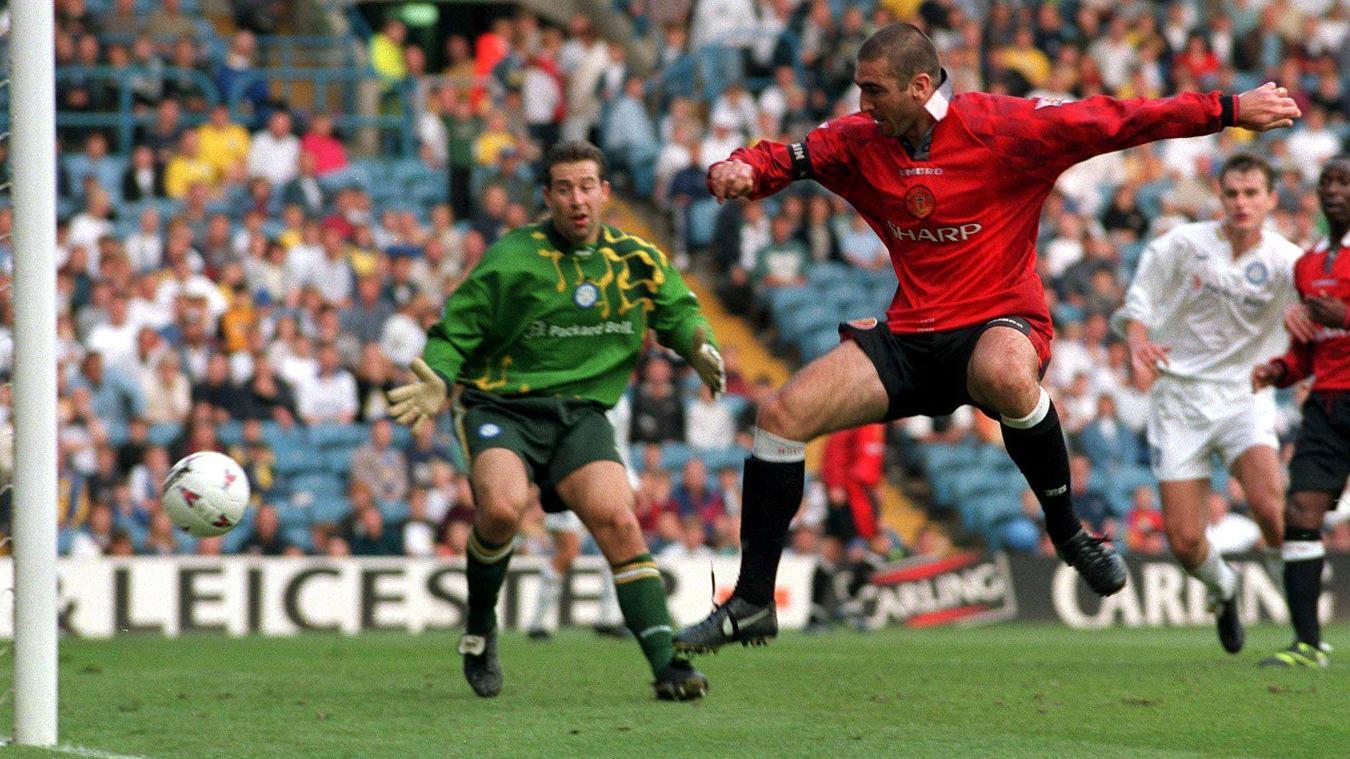 Cantona scored as Man Utd won in Howard Wilkinson's last match as Leeds manager
