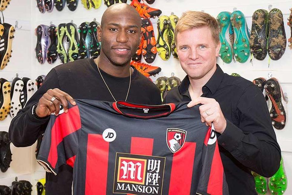 AFC Bournemouth signed striker Benik Afobe (left) in January 2016