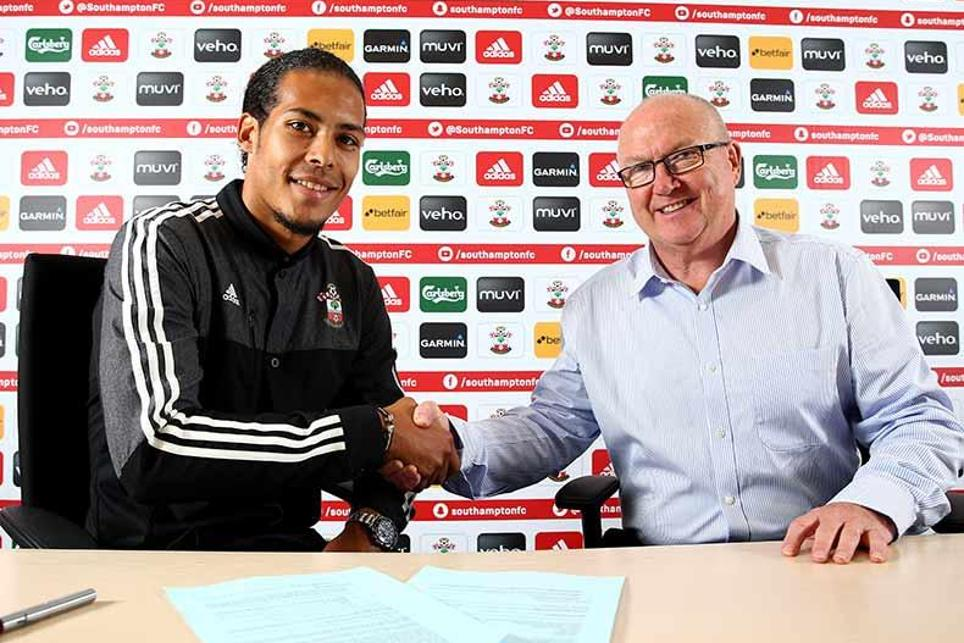 Virgil van Dijk signed for Southampton from Celtic in the summer of 2015