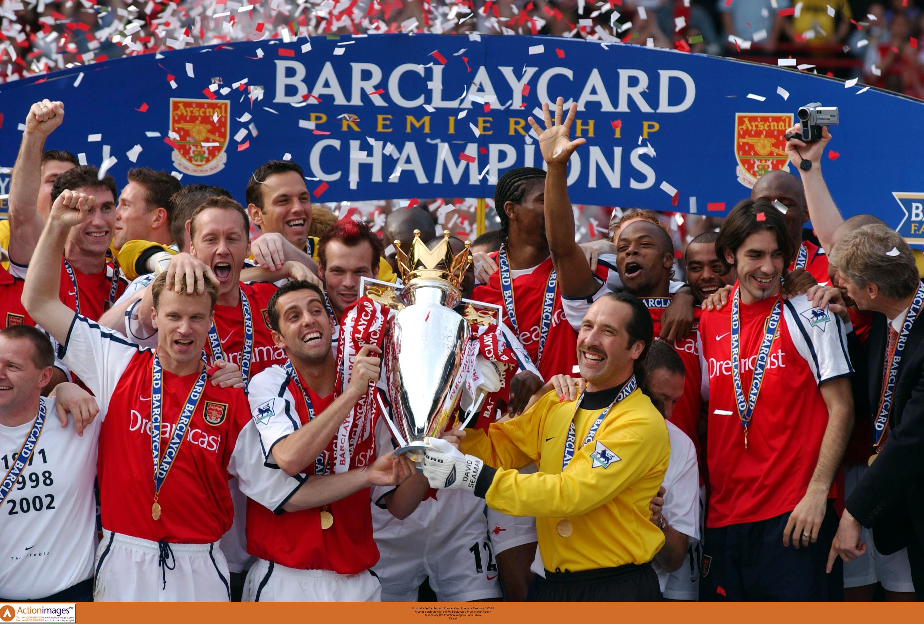 2001 02 season review arsenal win title at old trafford