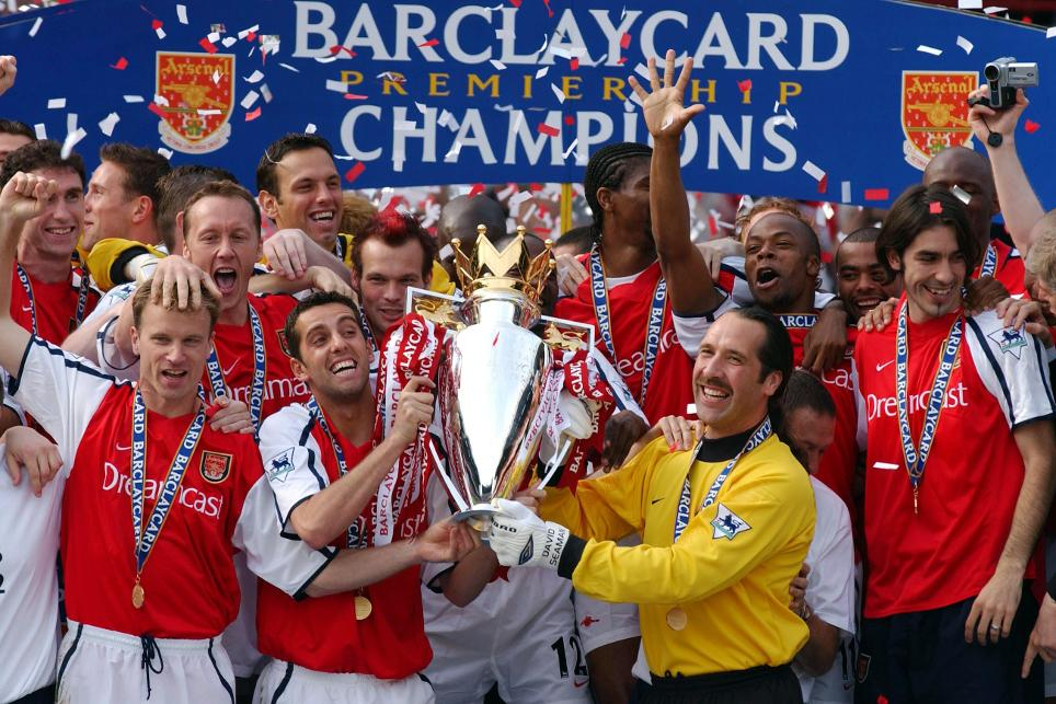 Image result for arsenal 2004 premier league gold trophy