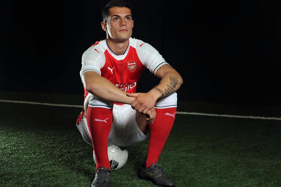 Granit Xhaka signed for Arsenal in summer 2016