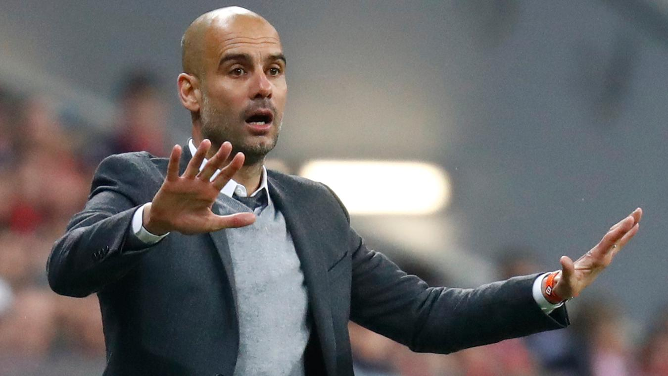 Pep Guardiola likes his teams based around high-energy pressing